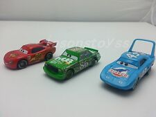 Mattel Disney Pixar Car No.95 McQueen & No.86 Chick Hicks & No.43 King Toy 1:55