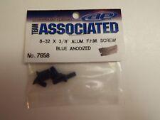 "TEAM ASSOCIATED - 8-32 X 3/8"" ALUM. F.H.M. SCREW BLUE ANODIZED - Model # 7658"