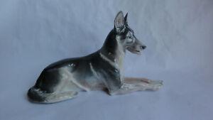 Metzler Ortloff Schäferhund Porzellanfigur Hund