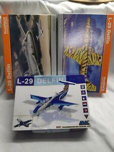 3 x KITS - 1/72 AMK L-29 DELFIN, 1/72 EDUARD L-29 DELFIN,1/48 EDUARD L-29 DELFIN