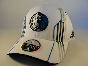 Dallas Mavericks NBA Adidas Flex Hat Cap Size S/M White