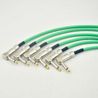 6-PACK Right Angle 1/4 Mono Guitar Effect Pedal Board Cable Patch Cord 30CM