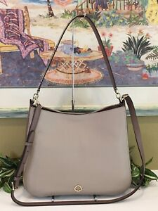KATE SPADE KAILEE MEDIUM DOUBLE COMPARTMENT SHOULDER BAG SNAKE BEIGE TAN LEATHER