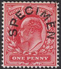 King Edward VII 1902 1d Scarlet SPECIMEN Type 17 Overprint Mint SG219s cat £250