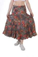 Vintage Flower Printed Women`s Skirt Casual Multi Coloured - SK053