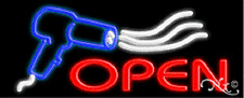 "Brand New ""Open"" 32x13 W/Logo Real Neon Sign w/Custom Options 10386"