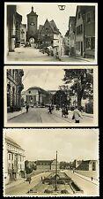 GERMANY 1940s REAL PHOTO PPCs...3 CARDS...ROTHENBURG LEIPZIG HUSUM