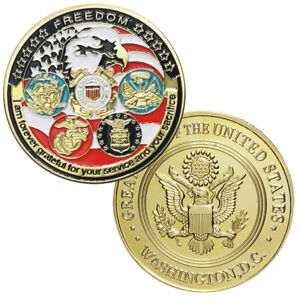 Army Military Challenge Coin All Branches USCG USMC ARMY NAVY USAF Coins