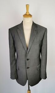 """#812A MENS M&S PURE NEW WOOL GREY TWO PIECE SUIT- CHEST 42"""" TROUSERS 38X31"""
