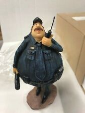 Policeman Figurine Statue with Baton and Walkie Talkie - Cop new with box