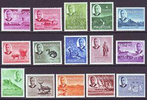Mauritius 1950 SC 235-249 MH Set