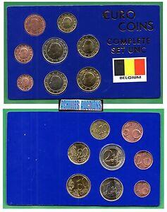 BELGIUM. Euro Coins of Belgium 2000-2007 UNC Compl. set of 8 values (1c to 2eur)