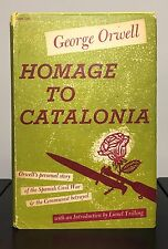 HOMAGE TO CATALONIA by George Orwell ~ 1st US ed & 1st print~ ORIGINAL JACKET