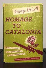 HOMAGE TO CATALONIA by George Orwell ~ 1st US ed & 1st print~ ORIGINAL JACKET