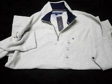 Tommy Hilfiger Quarter-Zip Mock-Collar Sweater, XXL, Grey & Coronet Blue $135