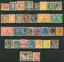 CANADA VICTORIA ISSUES MOSTLY USED, SMALL FAULTS