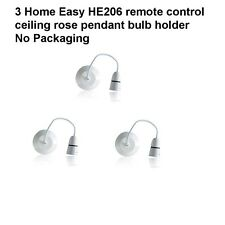 6 Home Easy HE206 remote control ceiling rose pendant bulb holder No Packaging