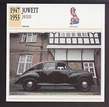 1947-1953 Jowett Javelin Car Photo Spec Sheet Info CARD 1948 1949 1950 1951 1952