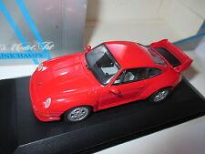 Porsche 911 (993) gt2 en Rouge Rouge Rosso Red, Minichamps Dans 1:43 Blanc Box!