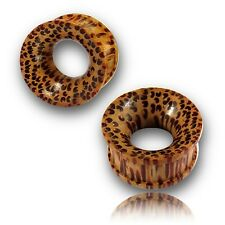 CONCAVE 000G 7/16 INCH COCO WOOD TUNNELS COCONUT PLUGS