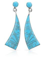 Lovely Earrings With Genuine Turquoise in 925 Sterling silver.
