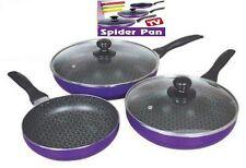 PACK DE 3 SARTENES + 2 TAPAS SPIDER PAN COCINAR GAS SPIDERPAN TV SARTEN COCINA