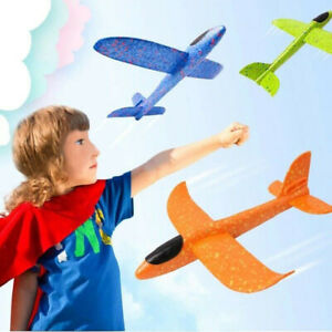Hand Launch Throwing Glider Aircraft Foam Airplane Plane Model Outdoor Kids Toy