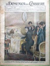 La Domenica del Corriere 8 Febbraio 1920 Musicoterapia Sciopero Ferrovie Calcio