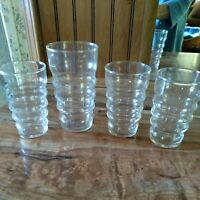 VINTAGE Sirrus Clear by LIBBEY GLASS COMPANY 4 JUICE GLASSES