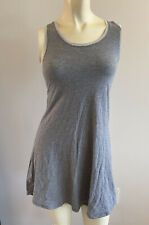 IVIVVA Gray PLAY FREELY Racer Open Back Knit Athletic Tank Top Tennis Dress 12