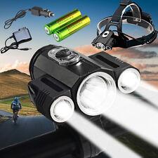 35000LM Bike Front light&Cree XM-L Led Headlamp headlight 18650 Battery+Charger