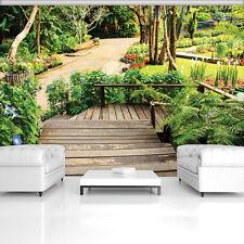 14V -350x260cm-New York Meer Blumen Natur Garten Strand VLIES Fototapete-WALD-