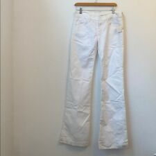 NWT $225 7 for all mankind white boot cut jeans