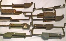 8 Antique Iron Shutter Dogs Hardware Sheet & Wrought Blacksmith Made