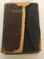 American Bible Society Antique New Testament Pocket Bible 1896 Christian Book
