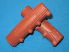 "Vintage Style Bicycle Brown Handlebar Grips 4-5/8"" Long - New"