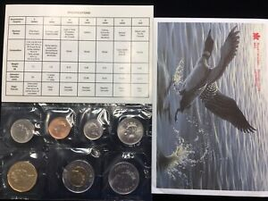 1997 Canada Prooflike UNC 7-Coin Set from the Royal Canadian Mint ~ Winnepeg