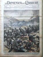 La Domenica del Corriere 22 Ottobre 1916 WW1 Zeppelin Carso Censura Nemico Quota