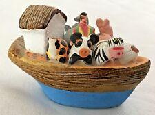 "Multi 2 3/4"" Noah's Ark - Boat Figurine w Animals"