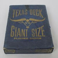 """Vintage Texas Deck Giant Size Playing Cards 5"""" x 7"""" Complete Set 2 Jokers Arrco"""