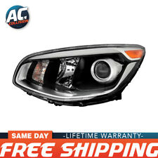20-9518-90 Projector Headlight Assembly Black Left Side for 17-19 Kia Soul LH