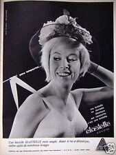 PUBLICITÉ 1964 ELASTELLE LYCRA MA BRETELLE EN DENTELLE ÉLASTIQUE - ADVERTISING