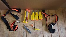 Nerf Lote Accesorios 2X pistola Tirantes 3X Punto Rojo 1X barril carril 40 Dardos