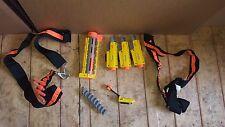 NERF ACCESSORIES LOT 2X GUN SHOULDER STRAPS 3X RED DOT 1X BARREL RAIL 40 DARTS