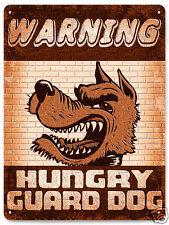 Guard dog Metal sign yard fence vintage style plaque art 270
