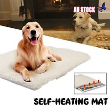 Large Self Heating Pet Dog Mat Bed Soft Warm Cat Rug Thermal Washable Pillow New