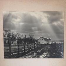 Vintage Black & White Photography Farm Barn Landscape 1960's