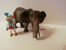 PLAYMOBIL - 1 INDIAN AND 1 ELEPHANT WITH ACCESSORIES