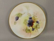 Pickard China Cabinet Plate Blackberries Hand Painted Gold Trim Signed