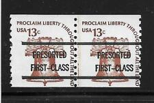 AMERICANA Sc# 1618a Precanceled 13c Bell Joint Line Pair, Dull Gum, F-VF MNH!